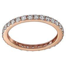 14K Rose Gold 1 carat Diamonds Eternity Band Ring size 9