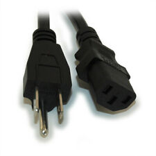 2ft Computer Power Cord (NEMA 5-15P to C-13 Plug)  18AWG  Black