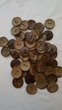"""3//8/"""" 1//2/"""" 5//8/"""" 3//4/"""" 1/"""" Brown Coconut Shell 2-Holes Buttons For Sewing Scrapbook"""