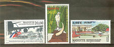 TIMBRES MAYOTTE POSTE AERIENNE YVERT N° 1 . 3 . 5 . COTE 42 €