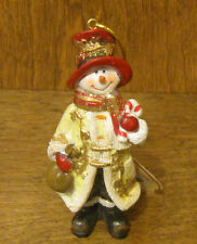"""Transpac Ornaments #X3311D SNOWMAN, New From Retail Store 4.5"""" CHRISTMAS"""