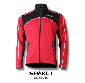 Spakct Fleece Thermal Jersey Cycling Jacket Red X-Large Sun Protective CSY204C