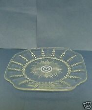 """Federal Glass COLUMBIA Clear Plate 9 1/2"""" luncheon etched Depression"""