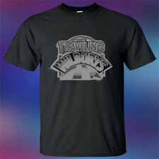 Traveling Wilburys Folk Rock Band Logo Men's Black T-Shirt Size S to 3XL
