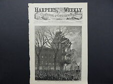 HARPER'S WEEKLY, Front Page #02 Dec 1876 Burning of the Brooklyn Theatre