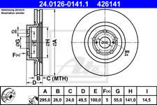 Front Brake Disc Toyota:AVENSIS 43512-05050 43512-05070