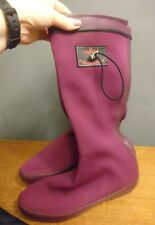 Redfoot Foldology Wellies Welly Boot Foldable Festival Size 7 41 Burgundy Ladies