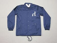 HUF MENS NAVY BLUE POLYESTER CLASSIC H COACH JACKET SIGNATURE LOGO SIZE MEDIUM