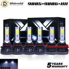 9005 9006 H11 Hi-Lo Beam Fog Combo 360W LED Headlight Bulb Kit 6000K Super White