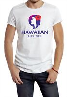 HAWAIIAN AIRLINES T-SHIRT RETRO AEROPLANE BOAC PAN AM LOGO PLANE WHITE plane