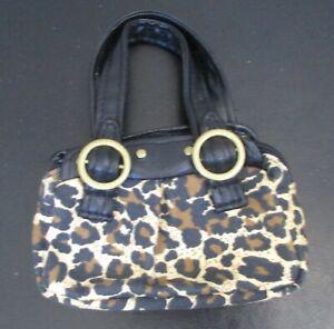 Build A Bear Workshop Leopard Print Handbag Purse Tote