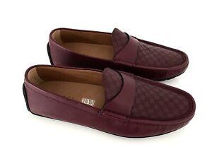 GUCCI Herren Luxus Schuhe Loafer Shoes Microguccissima Strong Red EU 41 / 7 Neu