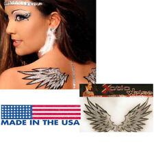 Mini Angel Wings Glitter Feather CZ Crystal Rhinestone Easy Body Sticker Costume