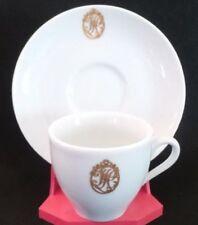 """LIMOGES FRANCE HAVILAND & CO. DEMITASSE TEA, COFFEE CUP & SAUCER GOLD """"H"""""""