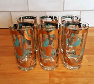 Fred Press MCM Hiball Blue Trojan Horse Glasses (set of 6)