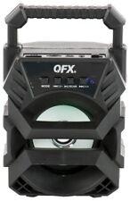 """QFX BT-1 3"""" Rechargeable Party Speaker +Bluetooth +USB/FM/AUX +LED Light"""