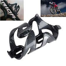 Black Drink Holder Glass Carbon Fiber Bike Cup Rack Water Bottle Cage Bracket