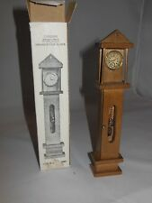 VINTAGE WOOD DOLLHOUSE FURNITURE GRAND FATHER & TABLE CLOCK
