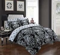 Print Duvet Quilt Cover Skull Bedding Set Pillowcases Single Double King Super