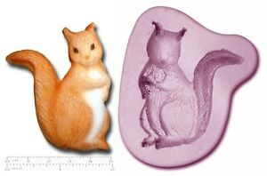 SQUIRREL Craft Sugarcraft Fimo Sculpey Silicone Rubber Mould