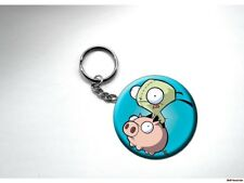 INVADER ZIM GIR ON PIG Key Chain