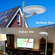 360° Reception Omni-directional Amplified Indoor/Outdoor HDTV Antenna Up 100Mile