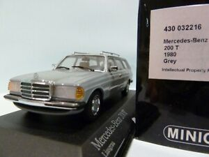 WOW EXTREMELY RARE Mercedes W123 200TE Break Grey 1:43 Minichamps-230/300/450/E9