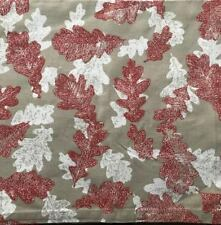 Crate & and Barrel OAK LEAVES Napkins-Set of 6-  NEW- NWOT-NEW