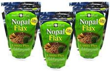 Nopal Flax Linaza Plus Adelgazante Value 3 pack Bulk 100% Natural