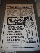OPERATION BULLSHINE - ORIGINAL FOLDED POSTER - 1959