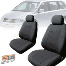 KIA GRAND CARNIVAL SEAT COVERS F+M+R Aug/2006-Jan/2015 AIRBAG SAFE Charcoal