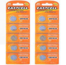 10 x CR1632 3V Lithium Batterie auf (2 Blistercard a 5 Stück ) EASTCELL