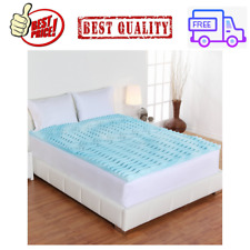 2-Inch Orthopedic 5-Zone Foam Mattress Topper Cooling Bed Cover, Full Size, NEW