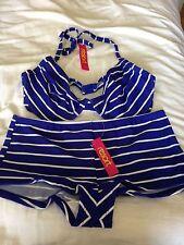 Conjunto Bikini para Mujer Damas Talla 36 C/D Top Shorts Pantalones 20 Etiquetas Nuevas