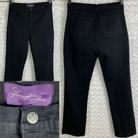 NYDJ Not Your Daughters Jeans Black Denim Straight Leg Women's Size 12 31 X 31