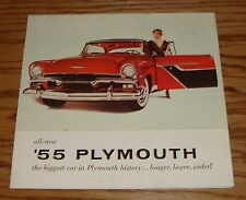 Original 1955 Plymouth Full Line Foldout Sales Brochure 55 Belvedere Savoy Plaza