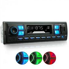 AUTORADIO CON BLUETOOTH VIVAVOCE RDS USB SD AUX MP3 SINGOLO 1DIN SENZA CD