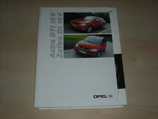 56460) Opel Astra Zafira DI DTI Pressemappe 09/1999