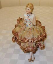 Vintage Flapper half doll  Pin Cushion with legs