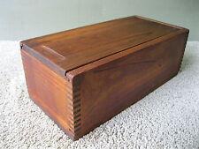 """Antique Box Primitive Candle Storage Vtg Pine Wood Sliding Lid 12""""x5-3/4""""x4-1/2"""""""