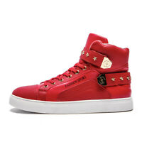 Men's Fashion Sneakers Sports Casual Shoes Breathable Leisure High Top Rivet