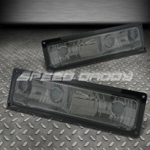 FOR 88-98 GMC C/K TRUCK PAIR SMOKE LENS FRONT BUMPER LIGHTS/LAMPS LEFT+RIGHT