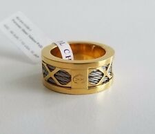 CHARRIOL Forever Steel Yellow PVD Ring Yellow Gold Color Size 7 1/2 NWT $230