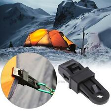 Outdoor Camping Awing Tarpaulin Tarp Tent Rope Clip Snap Tent Clamp Accessories