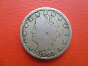 United States - 1905 - nickel - 5 cents  (ref CB36)