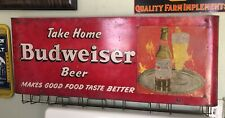 Vintage Budweiser Sign Bag Holder ~ Rare Htf