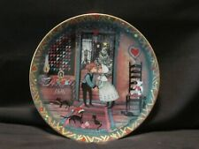 ANNA PERENNA Amish Christmas Art Plate - Mistletoe Magic - 1996 - P Buckley Moss