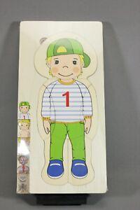 Playtive Montessori educational Wooden Body Part Puzzle Boy/Girl Anatomy Puzzle