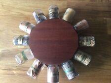 More details for vintage 1970s teak spice wheel mid century