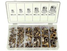 150-tlg Stahl Nietmuttern Sortiment Gewinde Hülsen M3 M4 M5 M6 M8 M10 Nietmutter